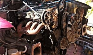 Motor eines Traktors